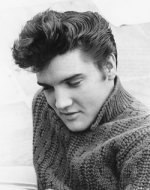 Elvis Presley Black and White Photo