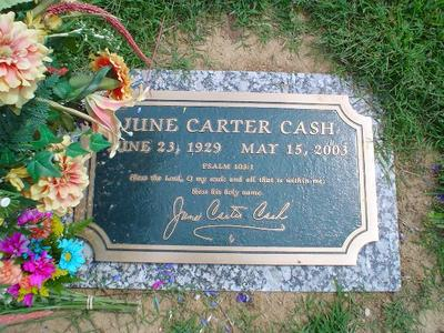 June Carter Cash Funeral Tombstone