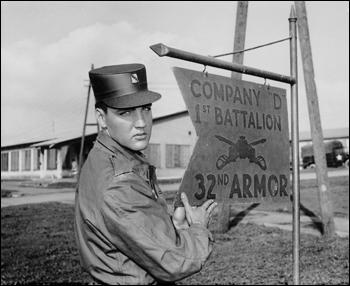 Elvis Presley Army Photo